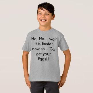 T-shirt Chemise drôle d'enfants de Pâques de Noël puis