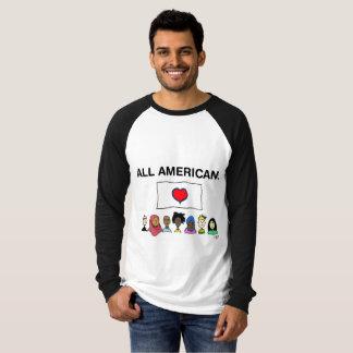 T-shirt Chemise du base-ball de tous les hommes américains