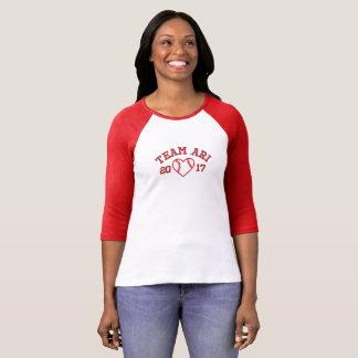 T-shirt Chemise du base-ball des femmes d'Ari d'équipe