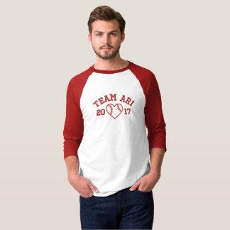 T-shirt Chemise du base-ball des hommes d'Ari d'équipe