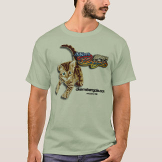 T-shirt Chemise du chaton d'A-Kerr ombragée