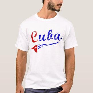 T-shirt Chemise du Cuba avec le drapeau cubain