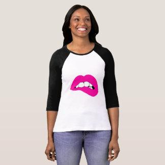 T-shirt Chemise du Jersey de Biter de lèvre