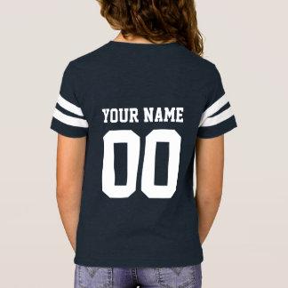 T-shirt Chemise du Jersey du football des filles nommées