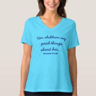T-shirt Chemise du jour de mère de turquoise