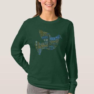 T-shirt Chemise d'universel de colombe de paix