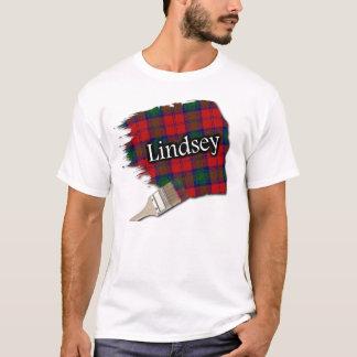 T-shirt Chemise écossaise de peinture de tartan de Lindsay