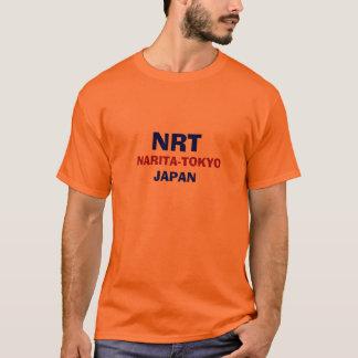 T-shirt Chemise EN TEMPS QUASI RÉEL de code d'aéroport du