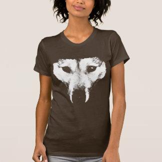 T-shirt Chemise enrouée de chien de pièce en t d'art du