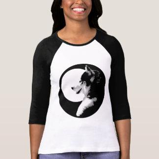 T-shirt Chemise enrouée de chien de traîneau de chemise de