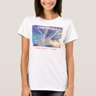 T-shirt Chemise entrecroisée de ciel de Chemtrails