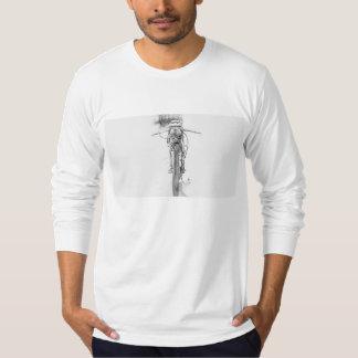 T-shirt Chemise faite sur commande de croquis de moto de