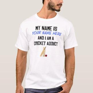 T-shirt Chemise faite sur commande d'intoxiqué de cricket