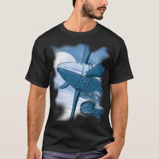 T-shirt Chemise foncée bleue de sembler vintage de TURBO