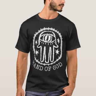 T-shirt Chemise foncée : Main de Dieu w/Hand de texte de