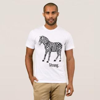 T-shirt Chemise forte de zèbre unisexe