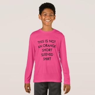 T-shirt Chemise gainée courte non orange drôle d'enfants