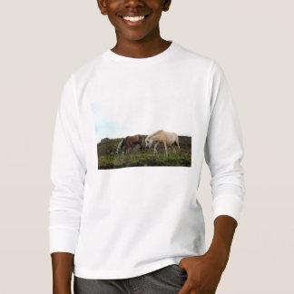 T-shirt Chemise gainée des enfants sauvages de poneys de