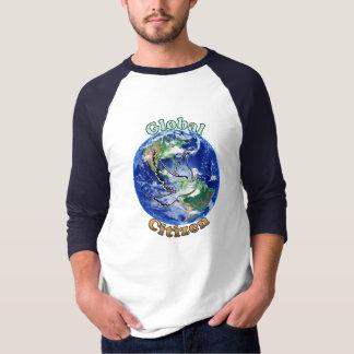 T-shirt Chemise globale de colombe de paix de citoyen