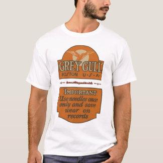 T-shirt Chemise grise d'avis d'aiguille de mouette de TMF