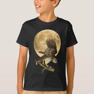 T-shirt Chemise Halloween de lune de hibou barré d'Audubon