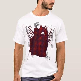 T-shirt Chemise humaine foncée de coeur