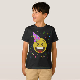 T-shirt Chemise idiote de fête d'anniversaire d'Emoji de