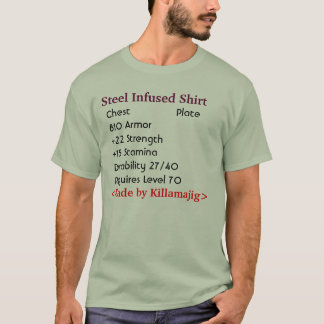 T-shirt Chemise infusée par acier (armure de plat) - avec