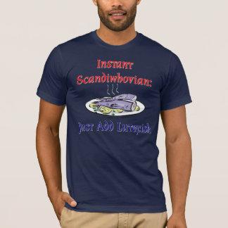 T-shirt Chemise instantanée de Scandiwhovian (foncée)