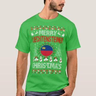 T-shirt Chemise laide de Joyeux de Liechtensteiner Noël de