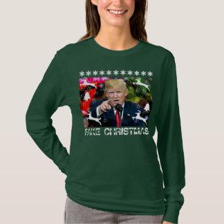 T-shirt Chemise laide de Noël de Donald Trump de faux Noël