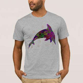 T-shirt Chemise latérale de mercredi un de paix de dauphin