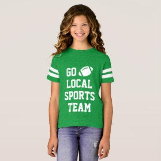 T-shirt Chemise locale générique du football d'équipe