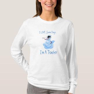 T-shirt Chemise long de douille de jours de neige de