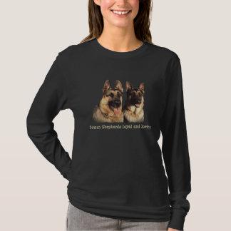 T-shirt Chemise loyale et affectueuse de berger allemand