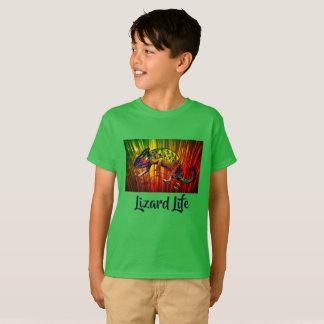 T-shirt Chemise lumineuse de la vie de lézard d'iguane