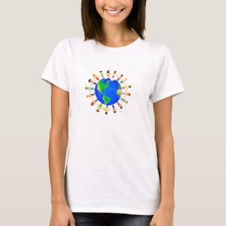 T-shirt Chemise lumineuse du monde pour des femmes