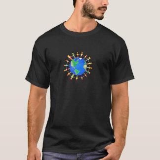 T-shirt Chemise lumineuse du monde pour les hommes avec le