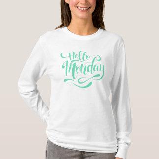 T-shirt Chemise lunatique mignonne de douille de lundi de