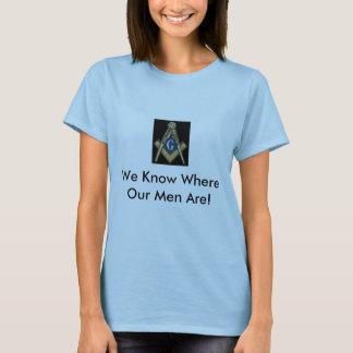 """T-shirt Chemise maçonnique de dames """"nous savons où nos"""