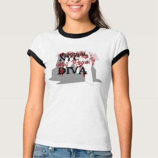 T-shirt Chemise majestueuse mauvaise de sonnerie de diva