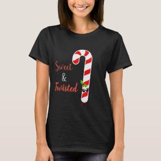 T-shirt Chemise malade et tordue de sucre de canne