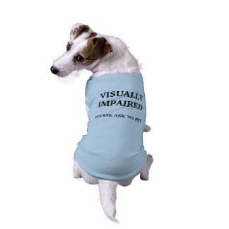 T-shirt Chemise malvoyante de chien