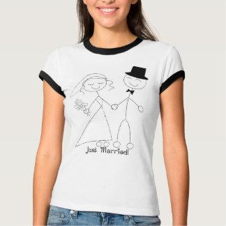 T-shirt Chemise mariée de lune de miel de KRW juste