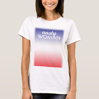 T-shirt Chemise méchante d'arrière - plan d'Ombre de femme