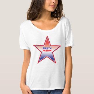 T-shirt Chemise méchante d'étoile d'Ombre de femme