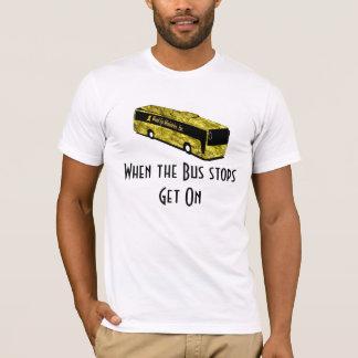 T-shirt Chemise-Mens d'arrêt d'autobus