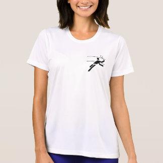 T-shirt Chemise micro de fibre du badminton des femmes