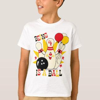 T-shirt Chemise mignonne d'anniversaire de Pin de bowling