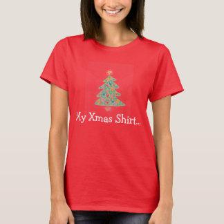 T-shirt Chemise mignonne d'arbre de Noël